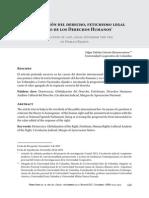 Globalizacion de Derecho Fetichismo Legal El Velo de Los Derechos Humanos