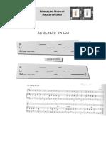 AO-CLARÃO DA LUA Flauta Doce