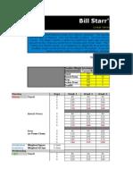 Bill Starr 5x5 spreadsheet workout
