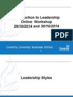 A137 Leadership Styles