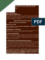 MODELO DE DENUNCIA PENAL POR USURPACIÓN.doc