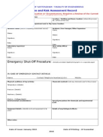 Process and Risk Assessment Template All Faculty January 2015