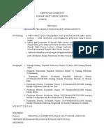 contoh surat Keputusan Direktur Pelayanan Pasien