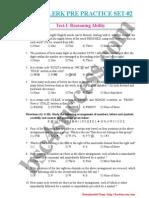 IBPS Clerk Pre Practice Set 02
