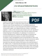Herbert Marcuse - Aggressiveness in Advanced Industrial Society