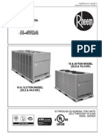 Rheem Commercial R-410 15 and 20 Ton