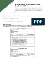 Instrumen Penilaian Sikap Dengan Teknik Observasi Pada Penilaian Autentik Kurikulum 2013