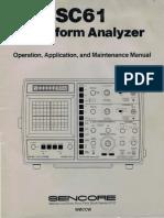 Sencore SC61 Operation, Application, And Maintenance Manual