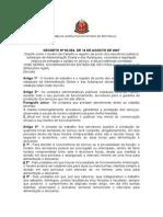 Decreto 2007 Ponto