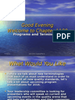 programs and terminology