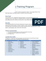 leadership training program manual