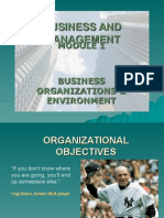 Unit 1.7 - Organizational Objectives