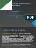 Vocabulario a Nivel Secretariado