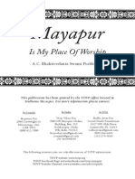 Mayapur is My Place of Worship