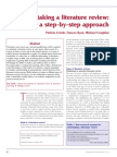 Undertaking a Literature Review a Step by Step Approach