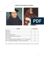 Revision Booklet for as Early Modern