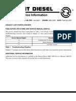 Detroit Diesel - Low Power Bulletin - MBE4000-07