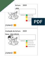 Avaliação Da Leitura 2015