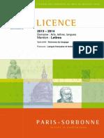 Brochure 2013-2014 Licence Lettres Sp- Sciences Du Langage Parc- LFTI-3