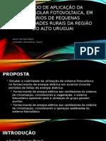 Estudo de aplicação da energia solar fotovoltaica, em aviários de pequenas propriedades rurais da região do alto Uruguai
