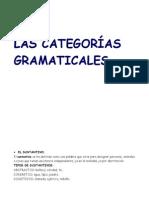 Las Categ. Gramaticales