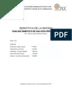 Analisis Semiotico Nota Periodistica