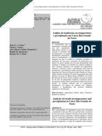 Artigo sobre tendências nas temperaturas e precipitações de Caicó-RN