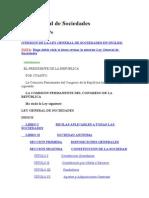 Ley General de Sociedades SPIJ