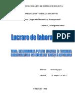 Lucrări de Laborator Automobile II