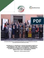 """29-10-15 Informe de la primera reunión de la red de parlamento abierto de parlamericas y del panel """"Los esfuerzos de Reforma de Transparencia legislativa en los américas"""""""
