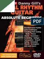 Metal Rhythm Guitar for Absoilute Beginners Tab Book
