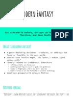 modern fantasy  group presentation