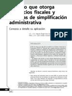 Decreto Que Otorga Beneficios Fiscales y Medidas de Simplificación Administrativa. Conozca a Detalle Su Aplicación