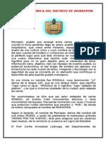 Reseña Histórica Del Distrito de Morropon
