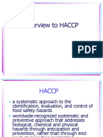 Overview to HACCP