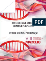 Livro de resumos da VIII Mostra Acadêmico-Científica e Cultural em Ciências Biológicas (MACCBIO)