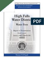 High Falls Water District Audit