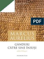 Marcus Aurelius - Ganduri Ccatre Sine Insusi