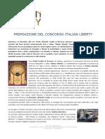 Comunicato Stampa Generale premiazione 3° Concorso Fotografico e Video Italian Liberty