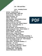 updated current set list