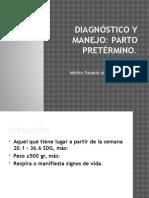 Diagnóstico y Manejo de Parto Pretérmino (16.04.15)