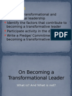 On Becoming a Transformational Leader