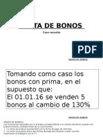 Venta de Bonos