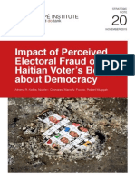 NE 20 Impact of Perceived Electoral Fraud on Haitian Voter's Beliefs About Democracy