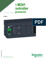 configuración y descripción de controlador TM241