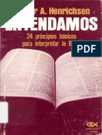 Walter Henrichsen Entendamos 24 Principios Basicos Para Interpretar La Biblia