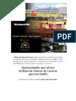 Jornada de Oportunidades para las PyMES en el Mercado de Valores venezolano