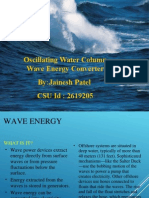 Oscillating Wave Energy Converter