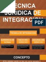 Tecnica Juridica de Integracion