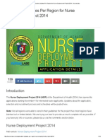 Application Updates Per Region for Nurse Deployment Project 2014 - Nurseslabs